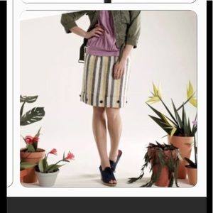 Anthro Edme & Esyllte Cafe Awning linen skirt